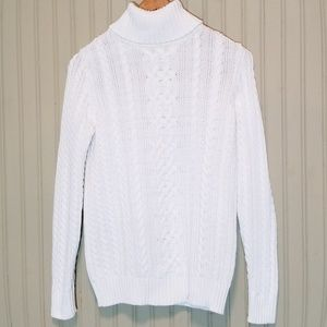 White Turtle Neck Sweater